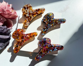 French Hair Claw in The Potpourri Collection  Floral Hair Clips Acetate Stainless Steel