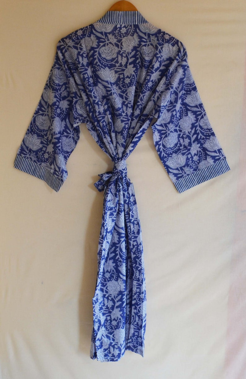 100/% Cotton Night Wear Gown Floral Printed Women Tunic Long Dress Throw Ethnic Dress Kimono Kaftan Beach Cover up Hand Block Print Indian