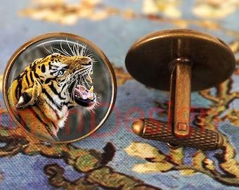 Tiger Jewelry Hunter Cufflinks Tiger Cufflinks