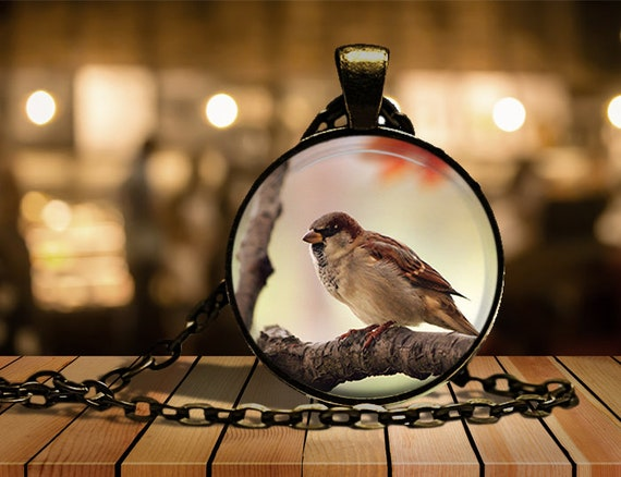 Sparrow Pendant Jevenile Eurasian Tree Sparrow Pendant Top Sparrow Figurine Sparrow figure Gorri\u00f3n colgante Sperling anh\u00e4nger Moineau pendan
