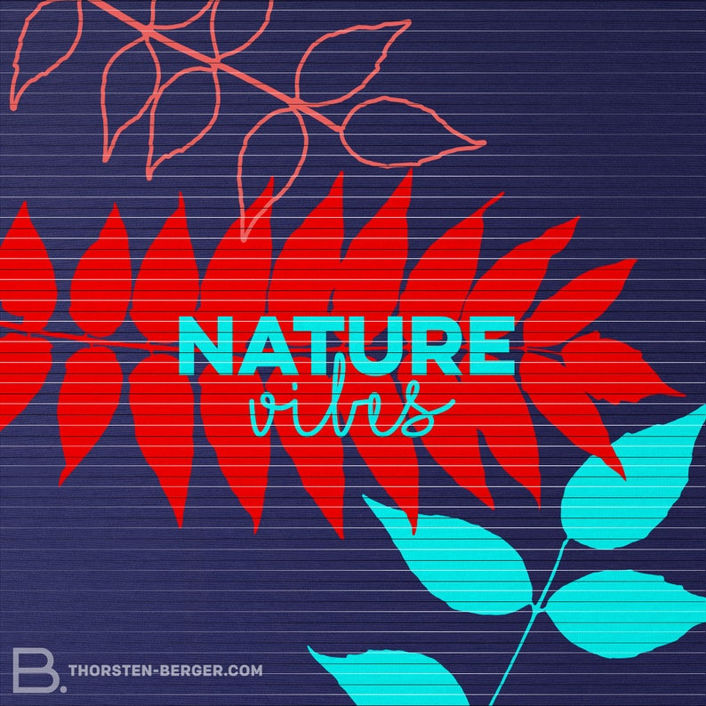 Plotter motif Nature Vibes by Thorsten Berger  Plotting  Cutting File  Nature  Floral  Leaves  Autumn