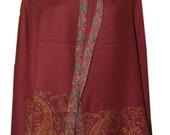 80 quot x40 quot antique indian vintage jamawar kashmiri beautiful ethnic pashmina printed kani scarf 100 pure wool Art women stole 306