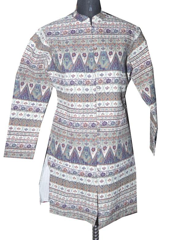 Indische Mantel Winterjacke Quilt Reversibel 100Baumwolle ZPkOXui