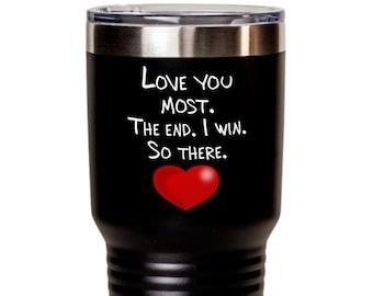 Large Custom Tumbler, Tumbler Gift for Mom, Tumbler Gift for Boyfriend, Tumbler Gift for Girlfriend, Couples Custom Mug, Love Humor Mug