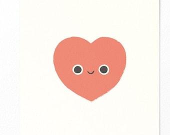 Postcard Heart - Valentine's Day Card - Love - Wedding Invitation Card - Best Friend - Best Friend