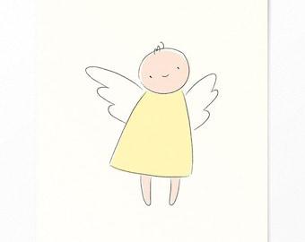Birth Card - Postcard Angel for Birth - Invitation Card Baptism - Guardian Angel - Baby Card