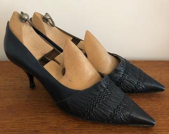 Blue kitten heels | Etsy