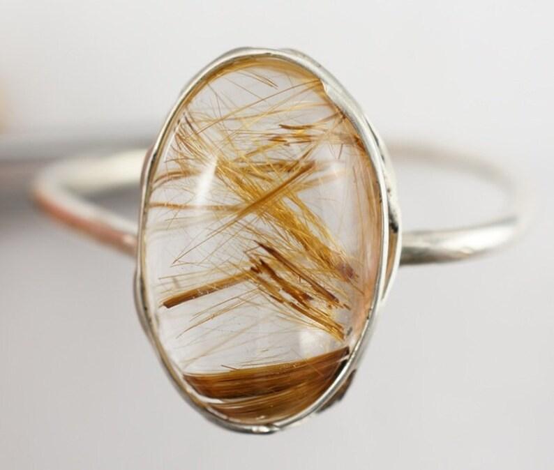 Rutilated Quartz Ring