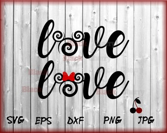 Love Wording Svg Disney Love Svg Mickey Minnie Designs cut file T-shirt Clip art Cricut downloads Silhouette dxf png eps pdf jpg