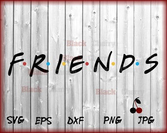 Friends logo, Friends svg, Friends logo svg, Movies svg, Funny svg, Svg files, Cut files, Friends cut file, Friends Show Logo, Friends Show