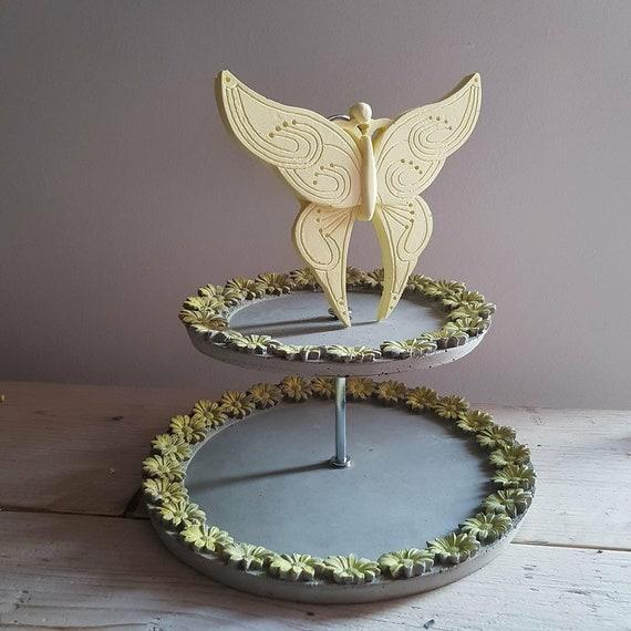 6 Schmetterlinge in vintage Bronze