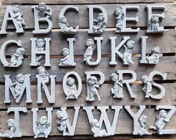 Silikonform 26 Buchstaben Mit Engel 1 X
