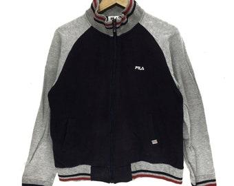 b5dcc91f9df6 FILA BIELLA ITALIA Sweatshirt Running Gym Pullover Jumper Minimalist Logo  Casual Classic Fully Zip Sweater