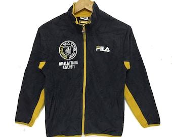 46178a21dd29 FILA BIELLA ITALIA Sweatshirt Medium Logo Jacket Pullover Jumper Running  Gym Casual Classic Zip Up Sweater