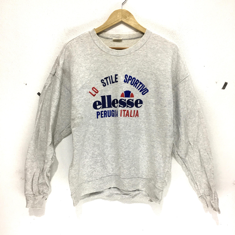 c806719cc268 Vintage ELLESSE Perugia Italia Big Logo Sweatshirts Casual