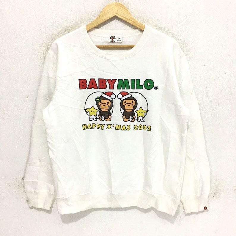 c4a8f60cb76 BAPE BABY MILO Sweatshirt A Bathing Ape Big Logo Spell Out