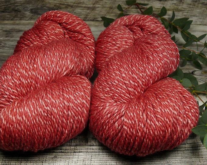 DUPLA HAGEBUTTE - Wolle Seide 2ply DK, pflanzengefärbtes superweiches Edelgarn, Naturfärbung, plastikfrei, 100gr Lauflänge 245m