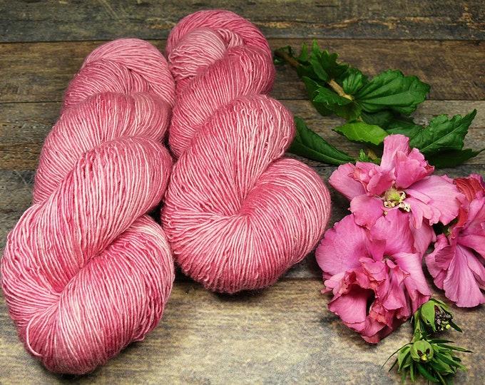OLD ROSE - Merino Singles fingering pflanzengefärbt von folly.me, handgefärbte reine Wolle, Singlesgarn natürlich gefärbt, singles yarn