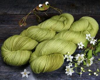 ROSY APFELRINGE - Bio Merino Wolle 320m Lauflänge, pflanzengefärbte kuschelweiche reine Wolle von Rosy Green Wool, Biowolle