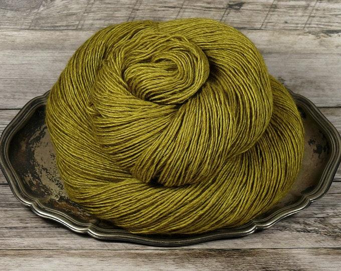 FUMY BÄNG pflanzengefärbte Wolle von folly.me, 120gr Yak Seide Merino Singles handgefärbt (100gr/EUR 21,00), Edelgarn natürlich gefärbt