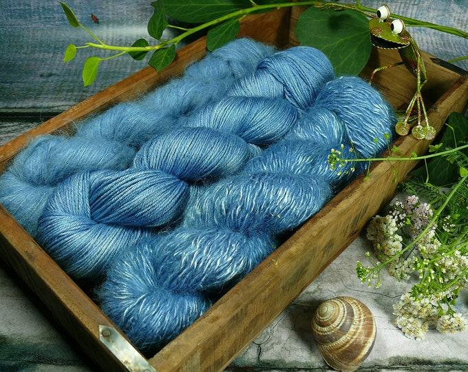 Luxury Set 250gr SCHATTENSPIEL  (100gr/EUR 28):  50gr Alpaca Silk Lace und 100gr Merino Silk und 100gr Silk Mohair - natürlich gefärbt