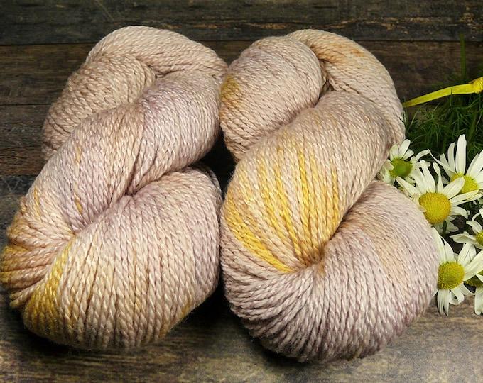 DUPLA ANJULI - Wolle Seide 2ply DK, natürlich gefärbtes superweiches Edelgarn, Pflanzenfärbung, plastikfrei,  100gr Lauflänge 245m