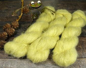 KANARI - Suri Alpaka Silk Lace 50gr (100gr/EUR 44) pflanzengefärbt, Suri Alpaka & Seide, flauschig weich, Pflanzenfärbung, Lauflänge 300m
