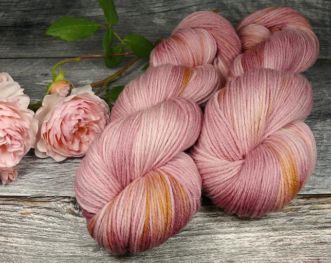 PINK ROSY - Bio Merino Wolle 320m Lauflänge, natürlich gefärbte reine weiche Wolle von Rosy Green Wool,  Biowolle