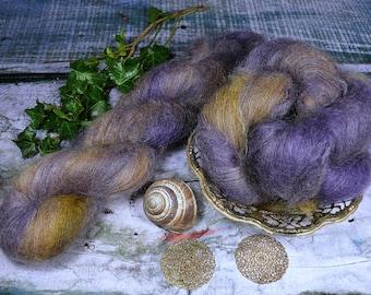 JOLLY - 50gr Kidsilk Lace (100gr/EUR 43), Kidmohair & Seide pflanzengefärbt, edles Lacegarn mit Mohair, Lauflänge 420 Meter