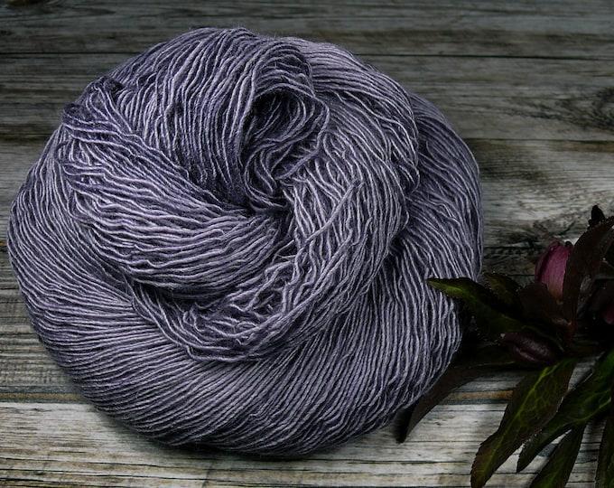PAKO VELVET - 115gr Merino Alpaka Seiden Singlesgarn (100gr/EUR 20,87), natürlich handgefärbtes Edelgarn, rein mit Pflanzen gefärbt