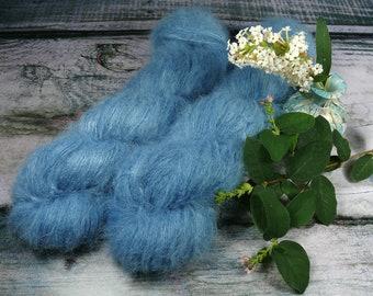 OZEAN - Suri Alpaka Silk Lace 50gr (100gr/EUR 44) pflanzengefärbt, Suri Alpaka & Seide, Pflanzenfärbung, Lauflänge 300m
