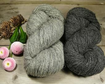 POMMERNWOLLE naturbelassene Wolle vom Pommernschaf, 400 Meter LL, robuste & formstabile Wolle deutscher Schafe, unbehandelte Wolle