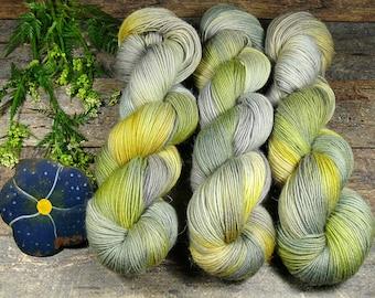 IREYON - Sockenwolle mit MOHAIR pflanzengefärbt, besonders dicht & stabil, natürlich handgefärbte Wolle, Sowo 4ply