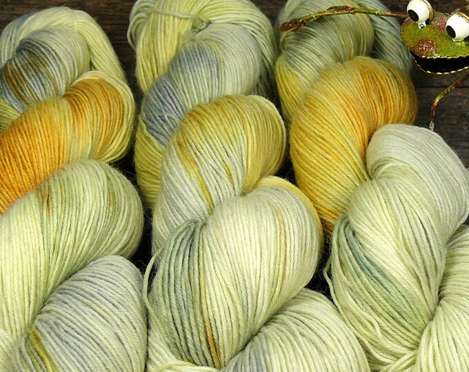 PEPPERMINT - Sockenwolle mit MOHAIR pflanzengefärbt, besonders dicht & stabil, natürlich handgefärbte Wolle, Sowo 4ply