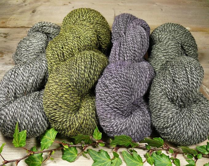 POMMERNWOLLE meliert - naturgefärbte Wolle vom Pommernschaf, 400 Meter LL, robuste & formstabile Wolle deutscher Schafe, unbehandelte Wolle