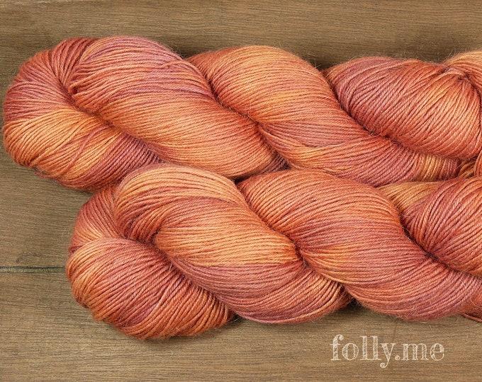 CORALINE -Sockenwolle mit MOHAIR pflanzengefärbt, besonders dicht & stabil, natürlich handgefärbte Wolle, Sowo 4ply