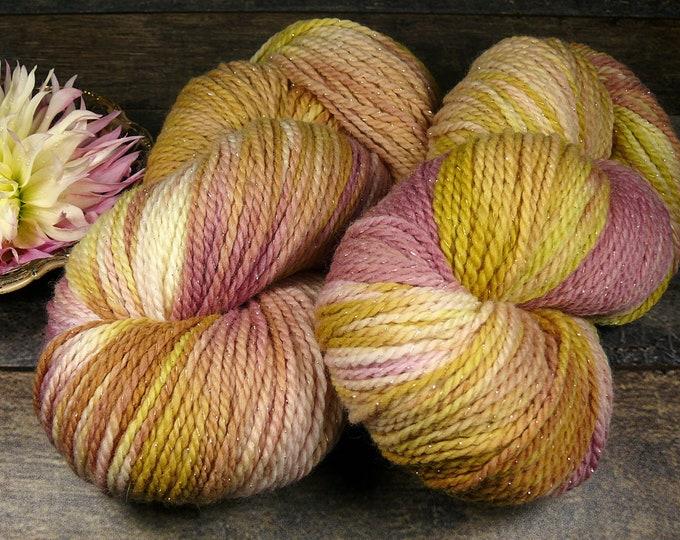 GLIZZ FROHSINN - sparkling Merino 2ply DK, unbehandeltes & natürlich gefärbtes Wollgarn, Pflanzenfärbung, 100gr Lauflänge 240m