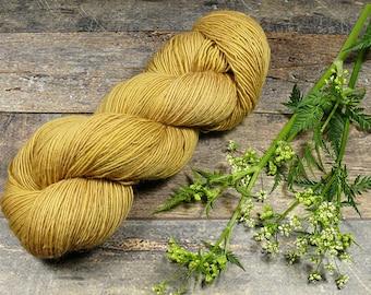 BECCA SENF - Lanartus Merino Singles 370m LL, pflanzengefärbte sehr weiche Wolle, edles Singlegarn natürlich handgefärbt