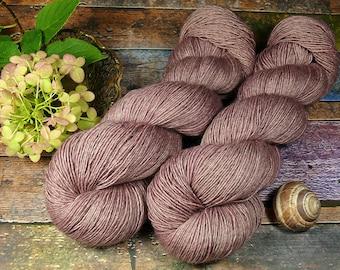 SANFTE FUMY - 120gr Merino Seide Yak Singlesgarn handgefärbt (100gr/Euro 22,00), natürlich gefärbtes zartes Edelgarn