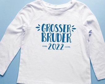 Bügelbild großer Bruder 2022 in Wunschfarbe