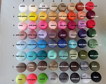 Choose loose-individual cottonballs from 64 colors