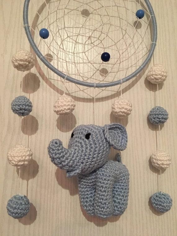 Traumfanger Dreamcatcher Babyzimmer Mobile Fensterdeko Elefant Etsy