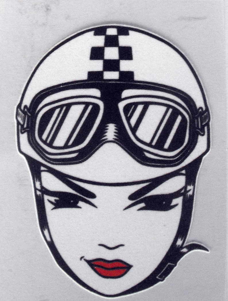 Funny Patch Iron-On  Pin Up as Pilot  4 inch Flock material NEW Easy to apply