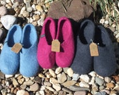 Handmade felt clogs Individual-with sole-felted slippers Uni for men and women felt slippers slippers felt