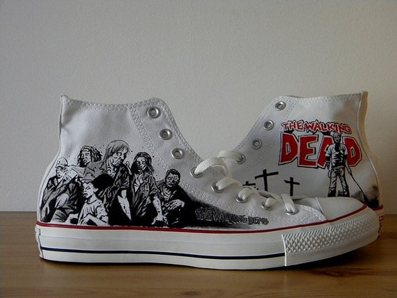 42e54d90c9d6 Walking Dead Converse shoes