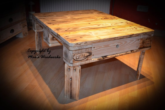 Couchtisch Wohnzimmertisch Vintage Tisch Paletten   Etsy