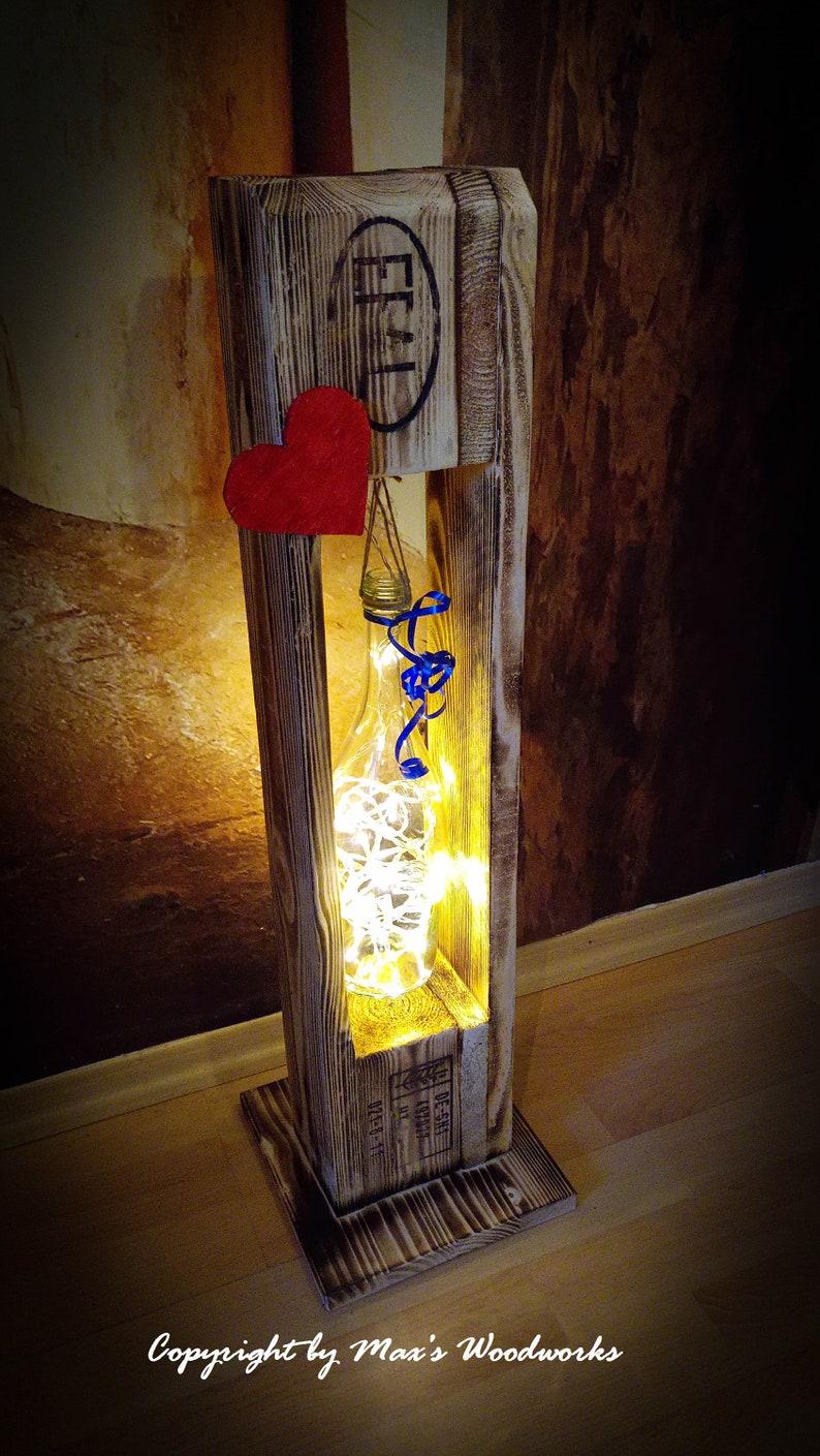 Palletndeko Lamp Floor Lamp Wooden Lamp Led Decoration Etsy