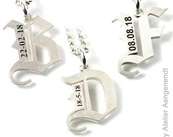 3aa02aae2261 Buchstabe Buchstaben Anhänger A-Z mit Ihrer Gravur alle Buchstaben möglich 925  Silber Partnerschmuck Damen Herren Unisex   PAB3 KE2