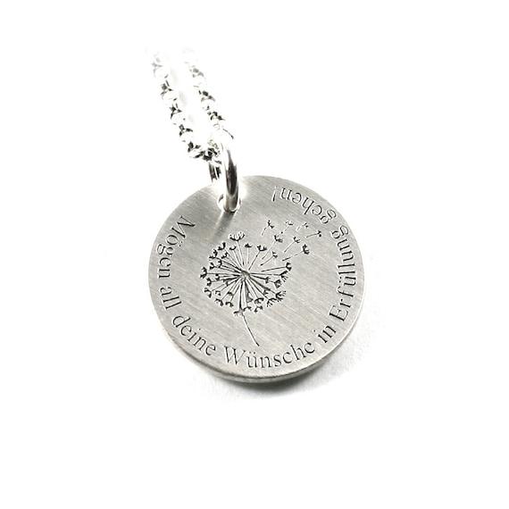 Silber 925 Gravur Anhänger mit der beweglichen Herz/&Infinity Kette/&Gravur