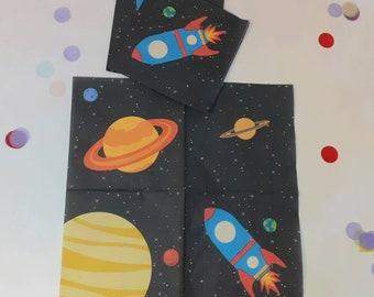 Servietten Rakete   Weltraum Weltall Papierservietten Dekoration Kindergeburtstag